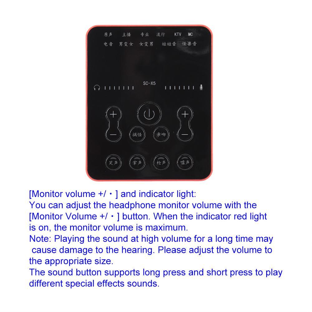 Details about SC-15K Sound Card Computer Phone Universal Live Sound Card  Data Cable Suit