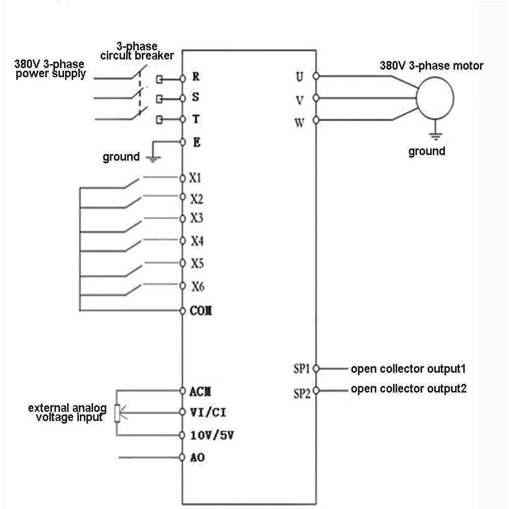 380V AC Frequenzumrichter VFD 3 Phase Drehzahlregler Inverter Motor ...
