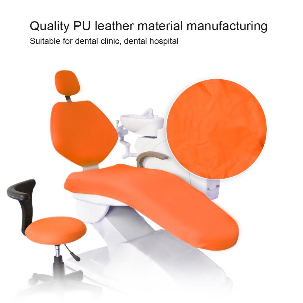 Indexbild 18 - Dental Chair Unit Cover Sleeves PU Headrest Seat Stool Protector 1 SET 6 Colors