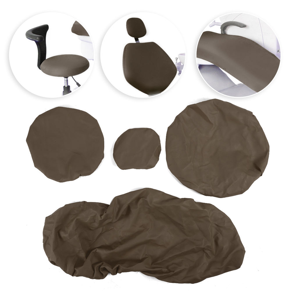 Indexbild 26 - Dental Chair Unit Cover Sleeves PU Headrest Seat Stool Protector 1 SET 6 Colors