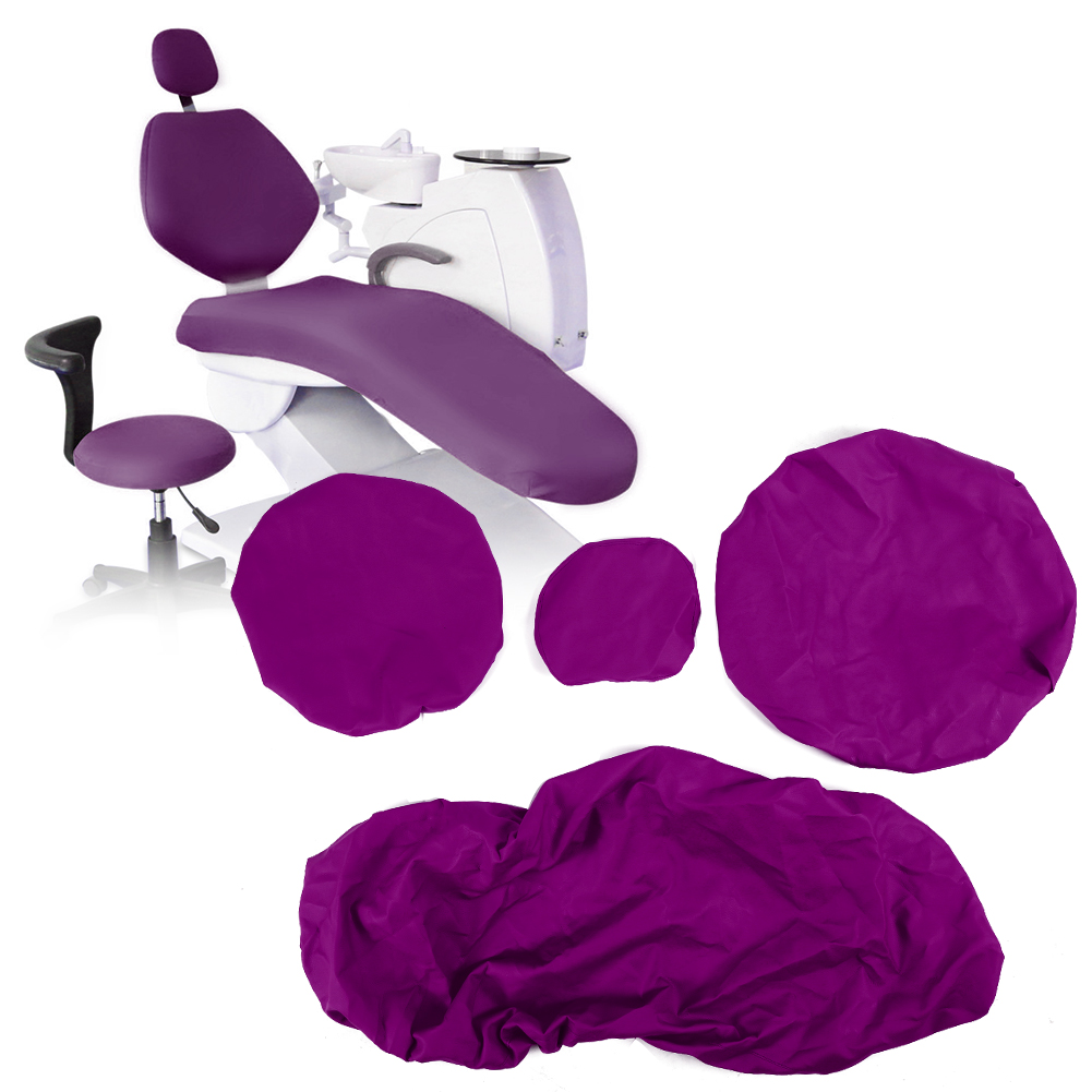 Indexbild 44 - Dental Chair Unit Cover Sleeves PU Headrest Seat Stool Protector 1 SET 6 Colors