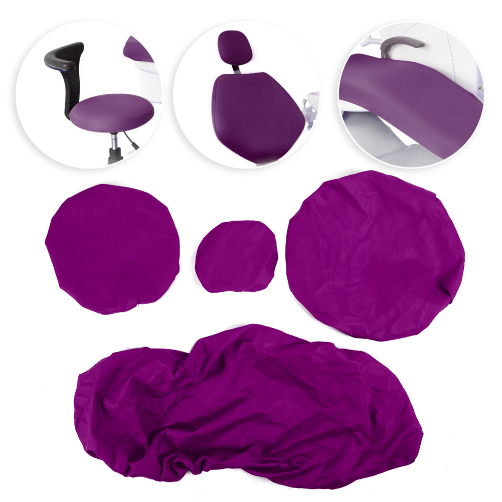 Indexbild 46 - Dental Chair Unit Cover Sleeves PU Headrest Seat Stool Protector 1 SET 6 Colors