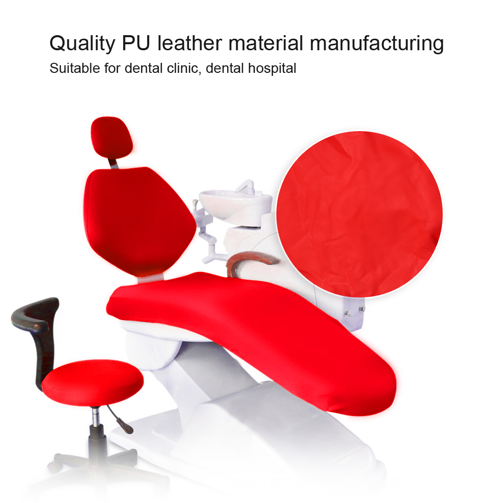 Indexbild 58 - Dental Chair Unit Cover Sleeves PU Headrest Seat Stool Protector 1 SET 6 Colors