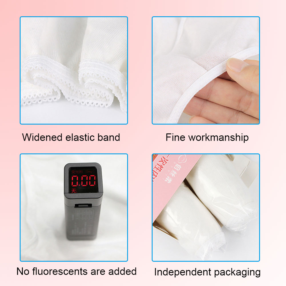 Indexbild 33 - 10Pcs Womens Disposable Underwear Maternity Pregnancy SPA Panties Cotton Briefs