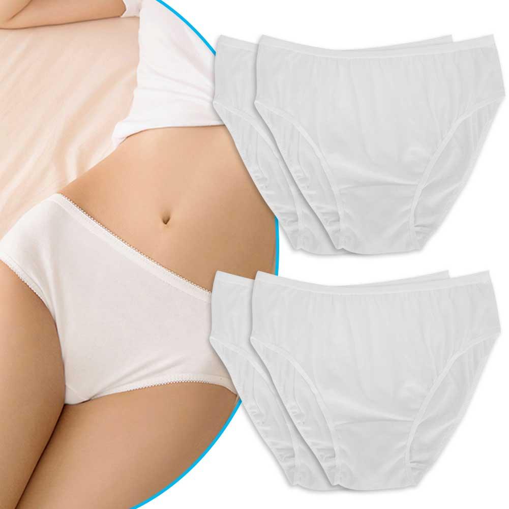 Indexbild 17 - 10Pcs Womens Disposable Underwear Maternity Pregnancy SPA Panties Cotton Briefs