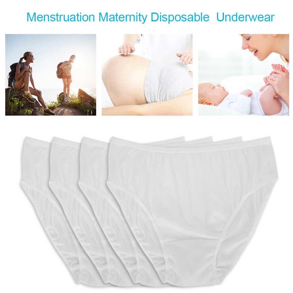 Indexbild 18 - 10Pcs Womens Disposable Underwear Maternity Pregnancy SPA Panties Cotton Briefs