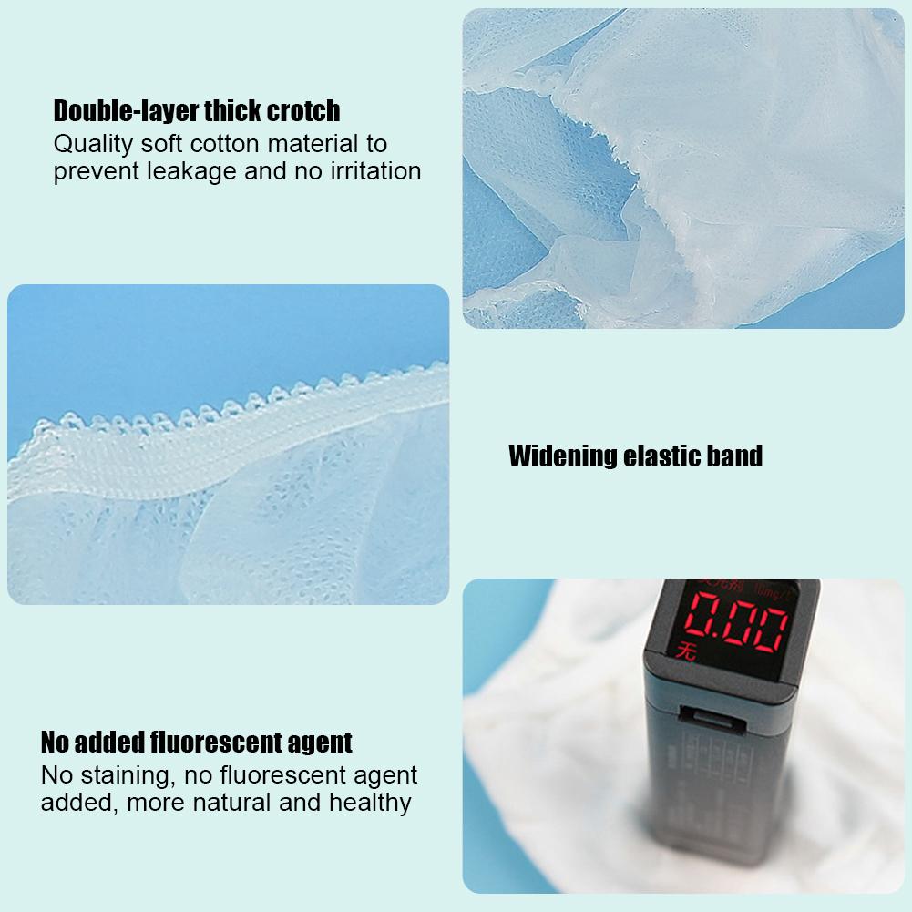 Indexbild 43 - 10Pcs Womens Disposable Underwear Maternity Pregnancy SPA Panties Cotton Briefs
