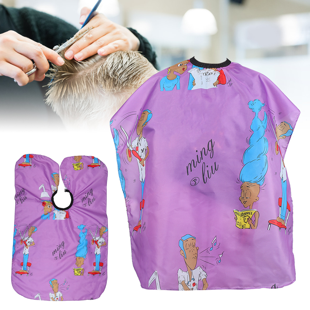 Indexbild 87 - Large Hair Cutting Cape Salon Hairdressing / Hairdresser Gown Barber Cloth Apron