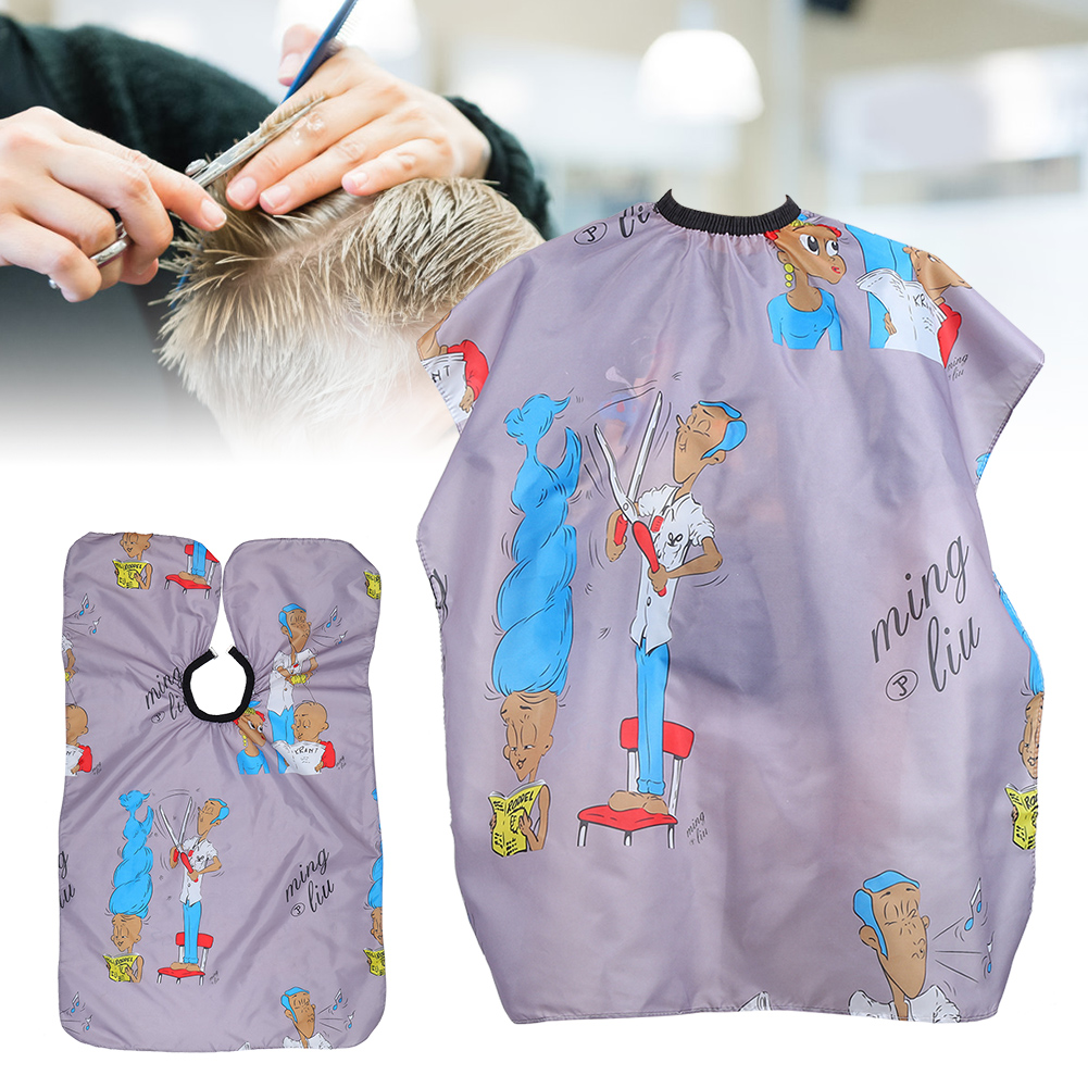 Indexbild 99 - Large Hair Cutting Cape Salon Hairdressing / Hairdresser Gown Barber Cloth Apron