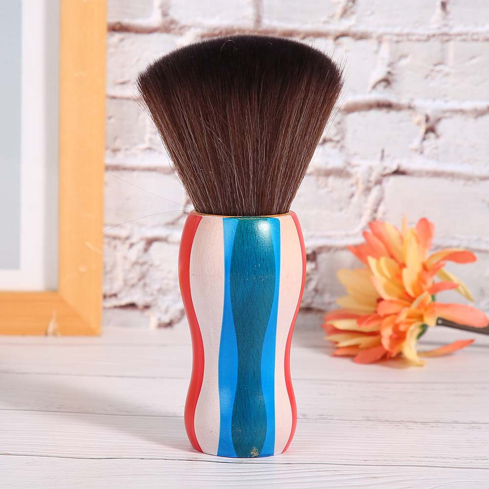 Indexbild 15 - Fiber Neck Face Duster Hairdressing Brush Hair Removal Cleaning Brush Home Salon