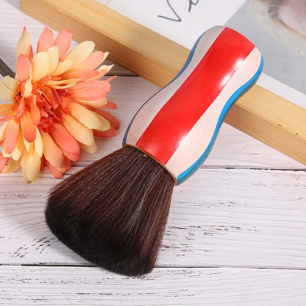 Indexbild 16 - Fiber Neck Face Duster Hairdressing Brush Hair Removal Cleaning Brush Home Salon