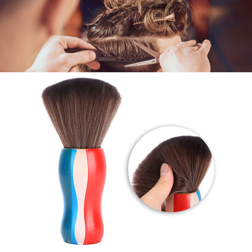 Indexbild 17 - Fiber Neck Face Duster Hairdressing Brush Hair Removal Cleaning Brush Home Salon