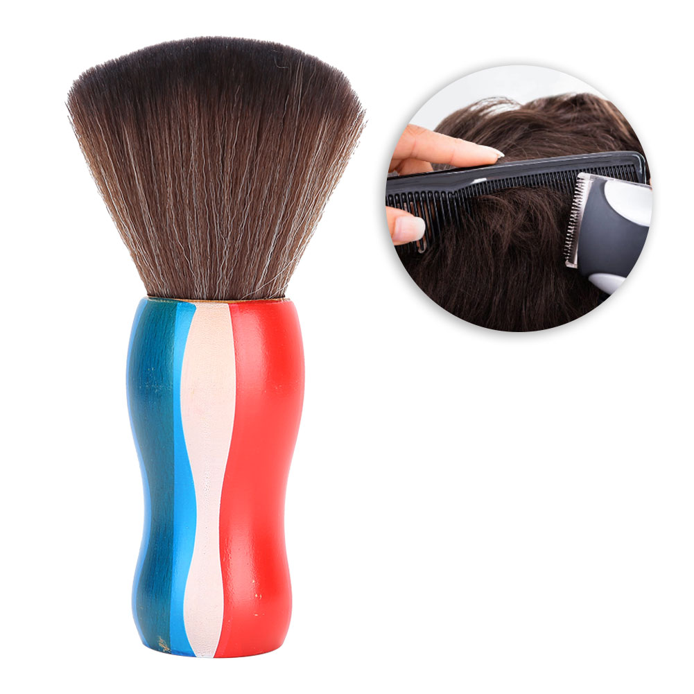 Indexbild 18 - Fiber Neck Face Duster Hairdressing Brush Hair Removal Cleaning Brush Home Salon