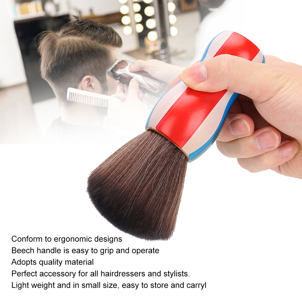 Indexbild 20 - Fiber Neck Face Duster Hairdressing Brush Hair Removal Cleaning Brush Home Salon