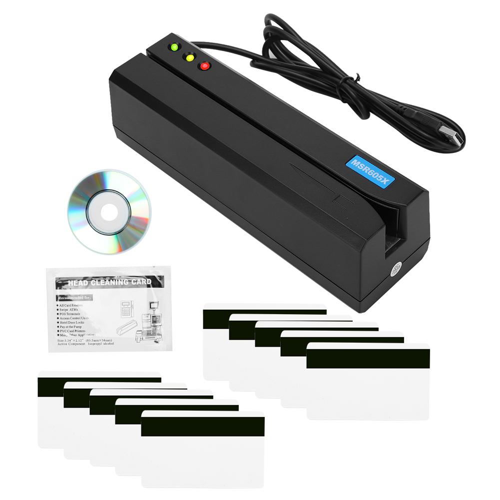 Windows Magnetic Stripe Card Reader Writer Encoder Credit Magstrip MSR605X