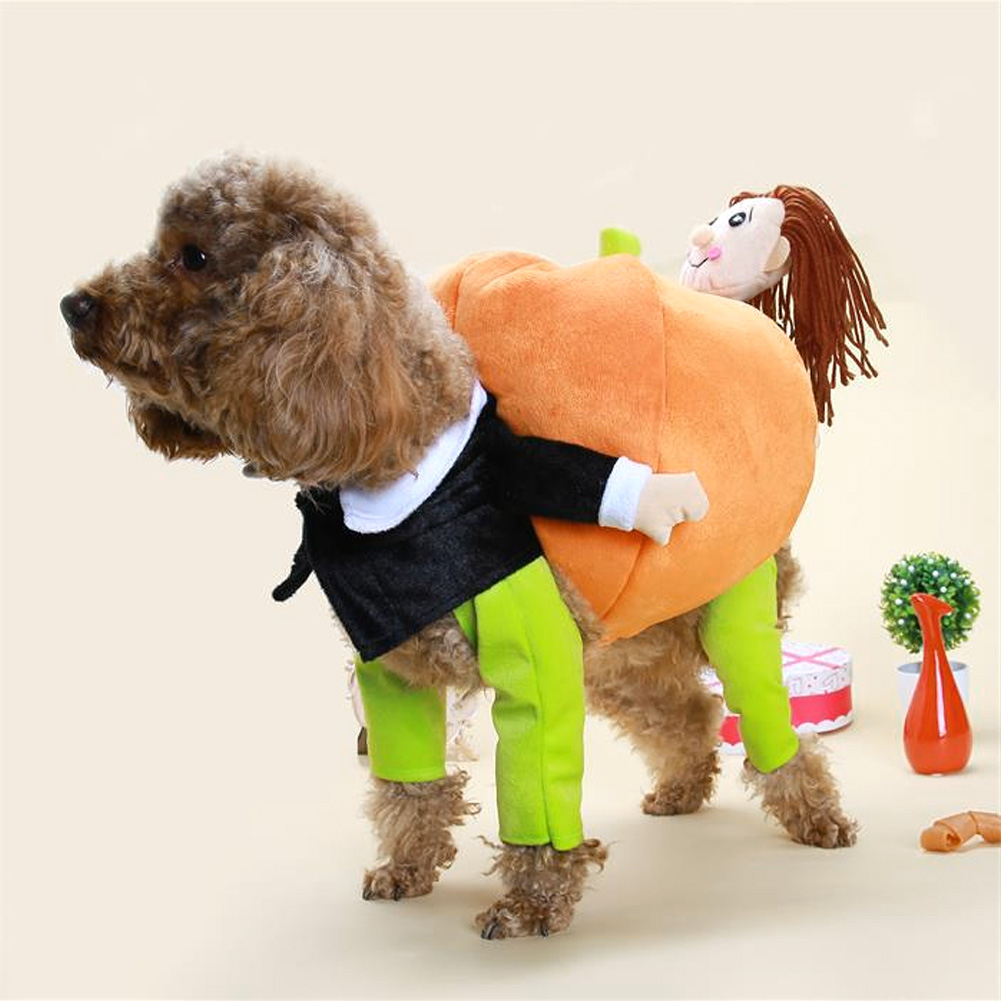 Pet-3D-Pumpkin-Costume-Dog-Cat-Outfit-Apparel-Clothes-Halloween-Christmas-Theme thumbnail 14