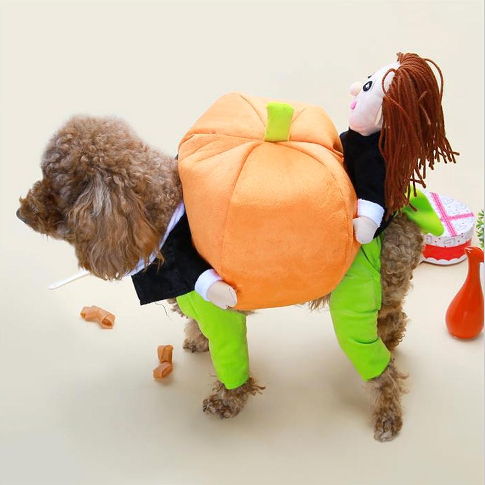 Pet-3D-Pumpkin-Costume-Dog-Cat-Outfit-Apparel-Clothes-Halloween-Christmas-Theme thumbnail 21