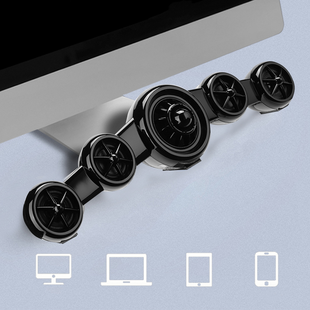 SADA-Bluetooth-Computer-Speaker-Desktop-Laptop-PC-Stereo-Subwoofer-Multimedia thumbnail 73