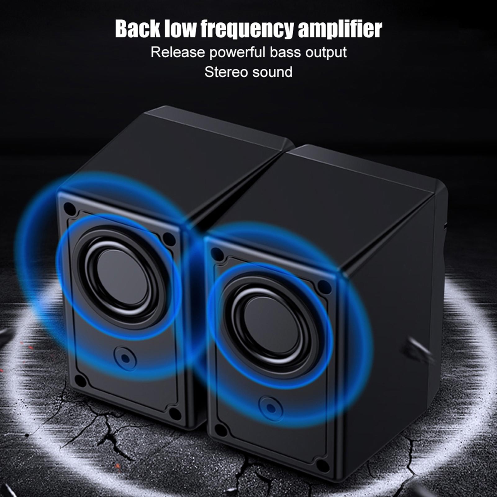 SADA-Bluetooth-Computer-Speaker-Desktop-Laptop-PC-Stereo-Subwoofer-Multimedia thumbnail 28