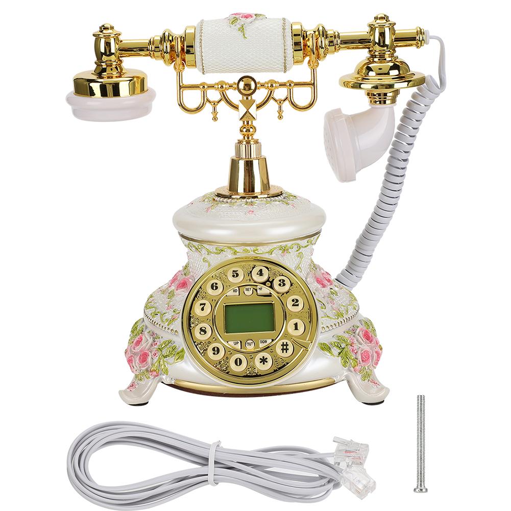Corded Retro Vintage Telephone Desk Landline Phone Caller