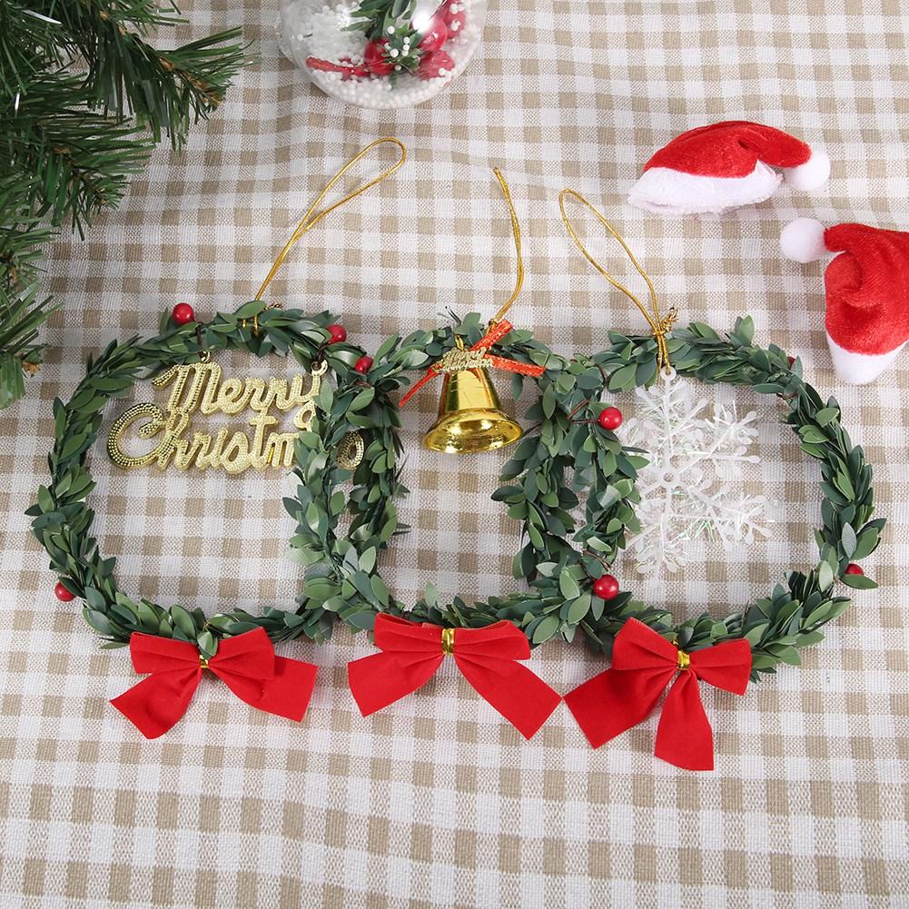 Christmas-Decorations-Tree-Ornament-Xmas-Hanging-Accessories-Wooden-DIY-Pendant thumbnail 139