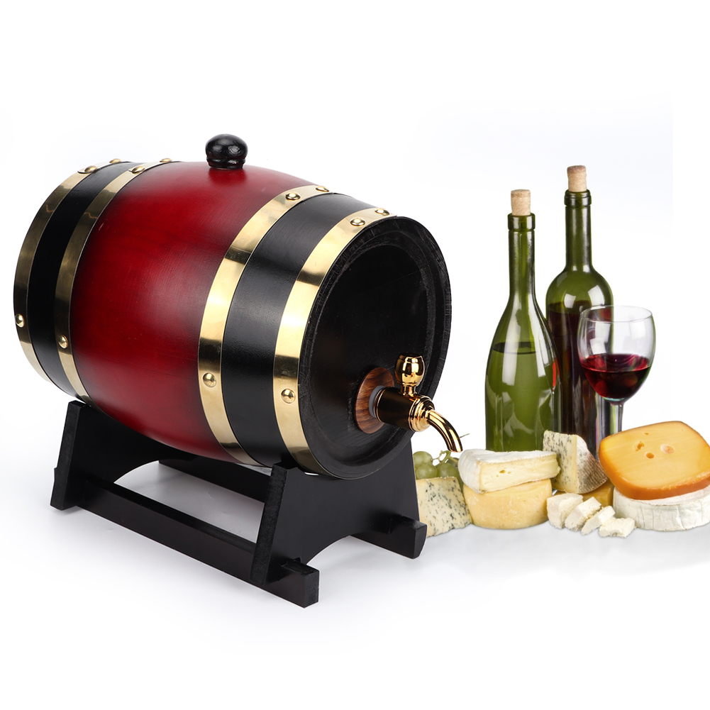 1-3L-Household-Mini-Wood-Whiskey-Barrel-Wine-Keg-Wooden-Wine-Brewing-Equipments thumbnail 35