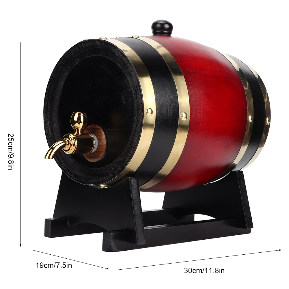 1-3L-Household-Mini-Wood-Whiskey-Barrel-Wine-Keg-Wooden-Wine-Brewing-Equipments thumbnail 36