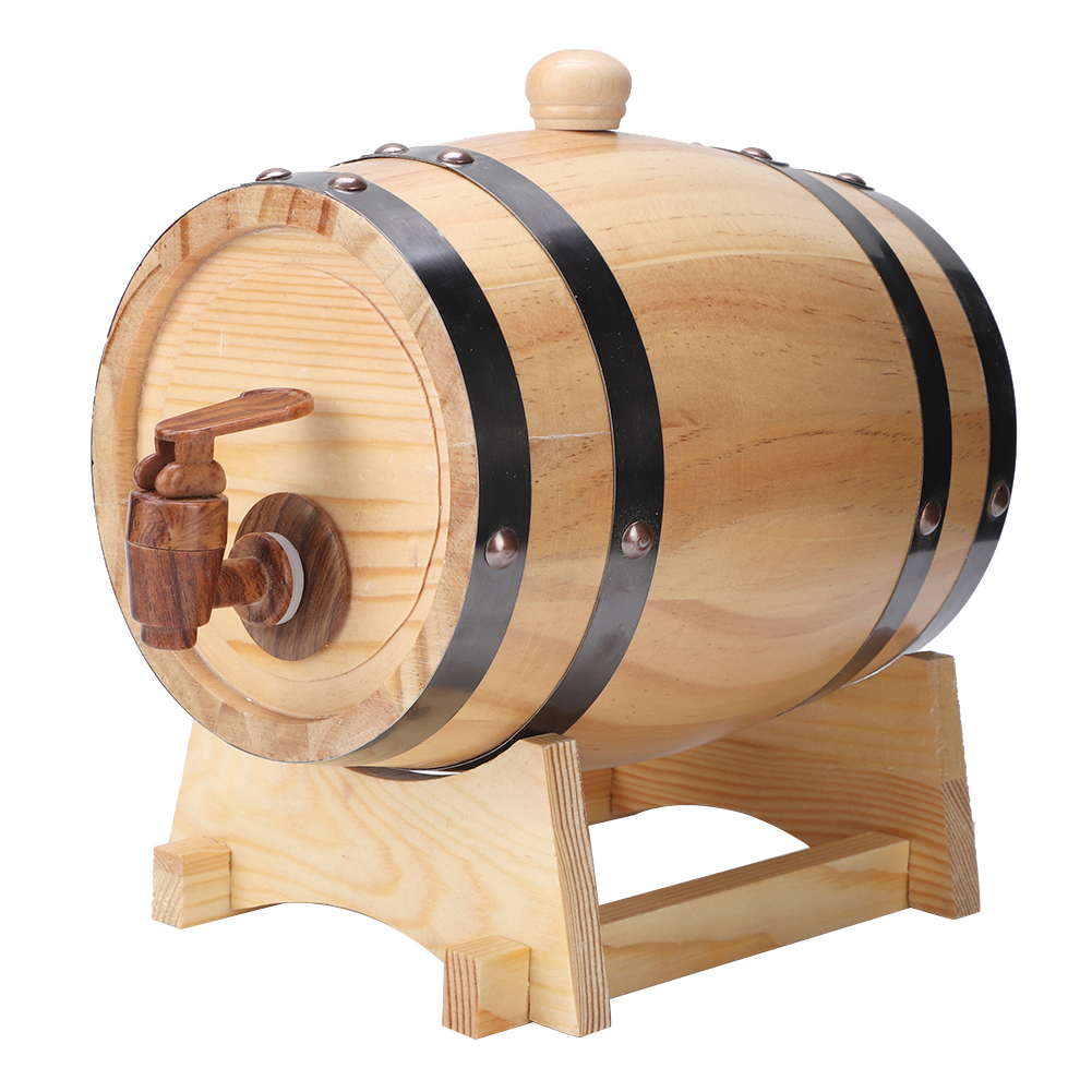 1-3L-Household-Mini-Wood-Whiskey-Barrel-Wine-Keg-Wooden-Wine-Brewing-Equipments thumbnail 22
