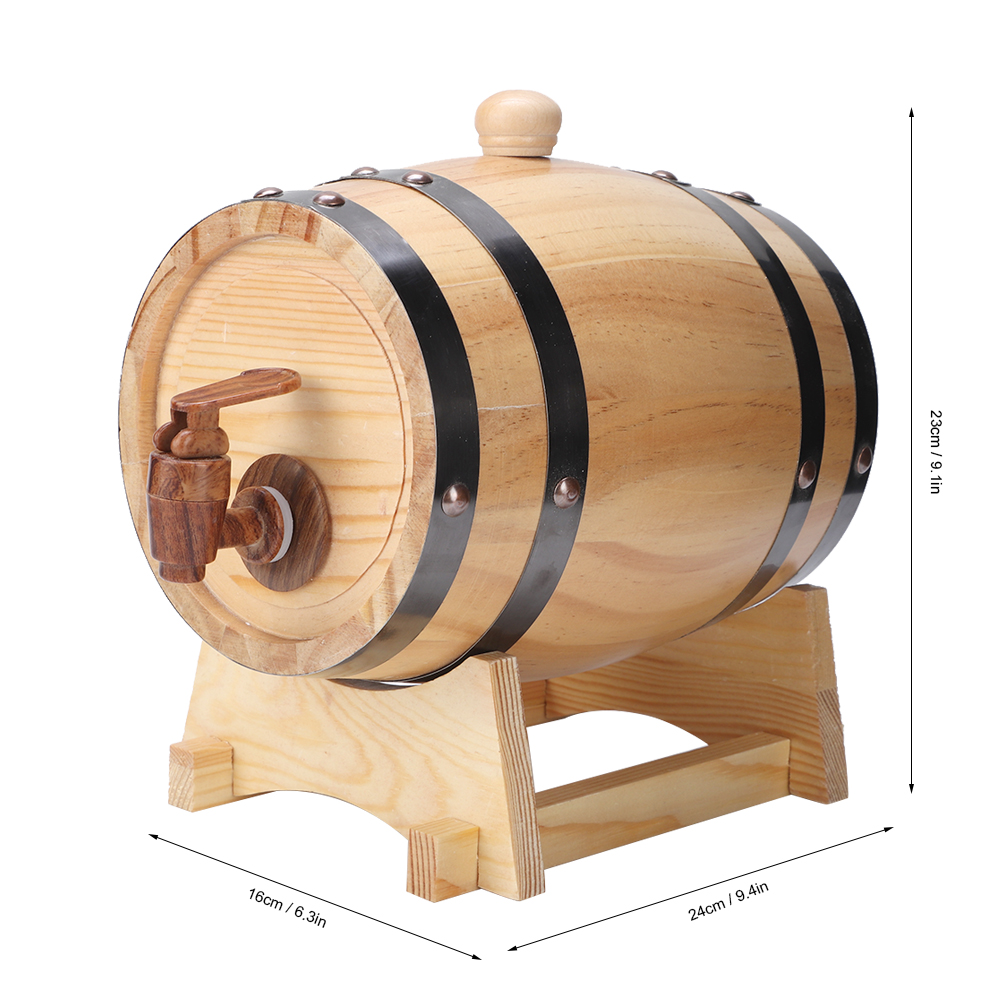 1-3L-Household-Mini-Wood-Whiskey-Barrel-Wine-Keg-Wooden-Wine-Brewing-Equipments thumbnail 24