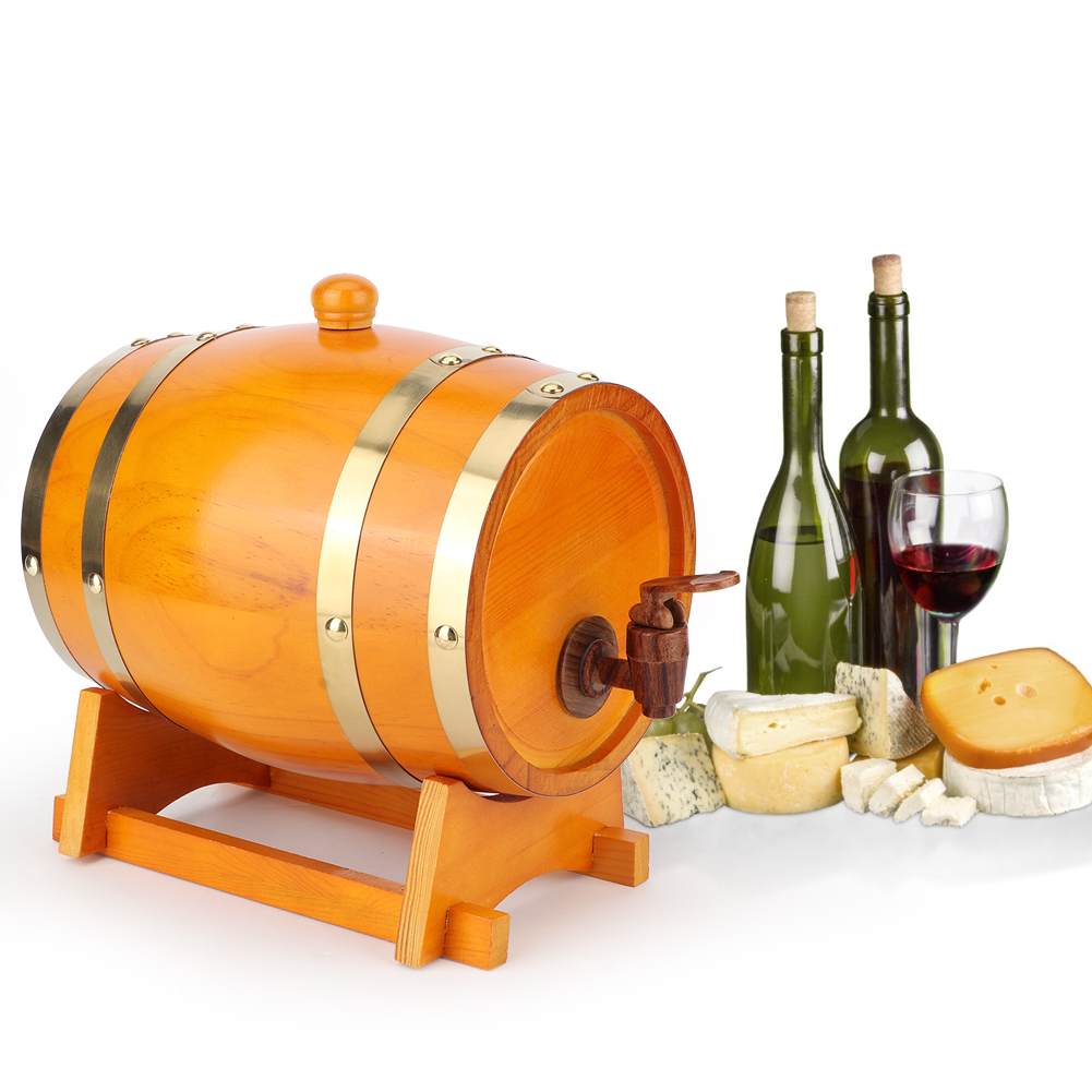 1-3L-Household-Mini-Wood-Whiskey-Barrel-Wine-Keg-Wooden-Wine-Brewing-Equipments thumbnail 30