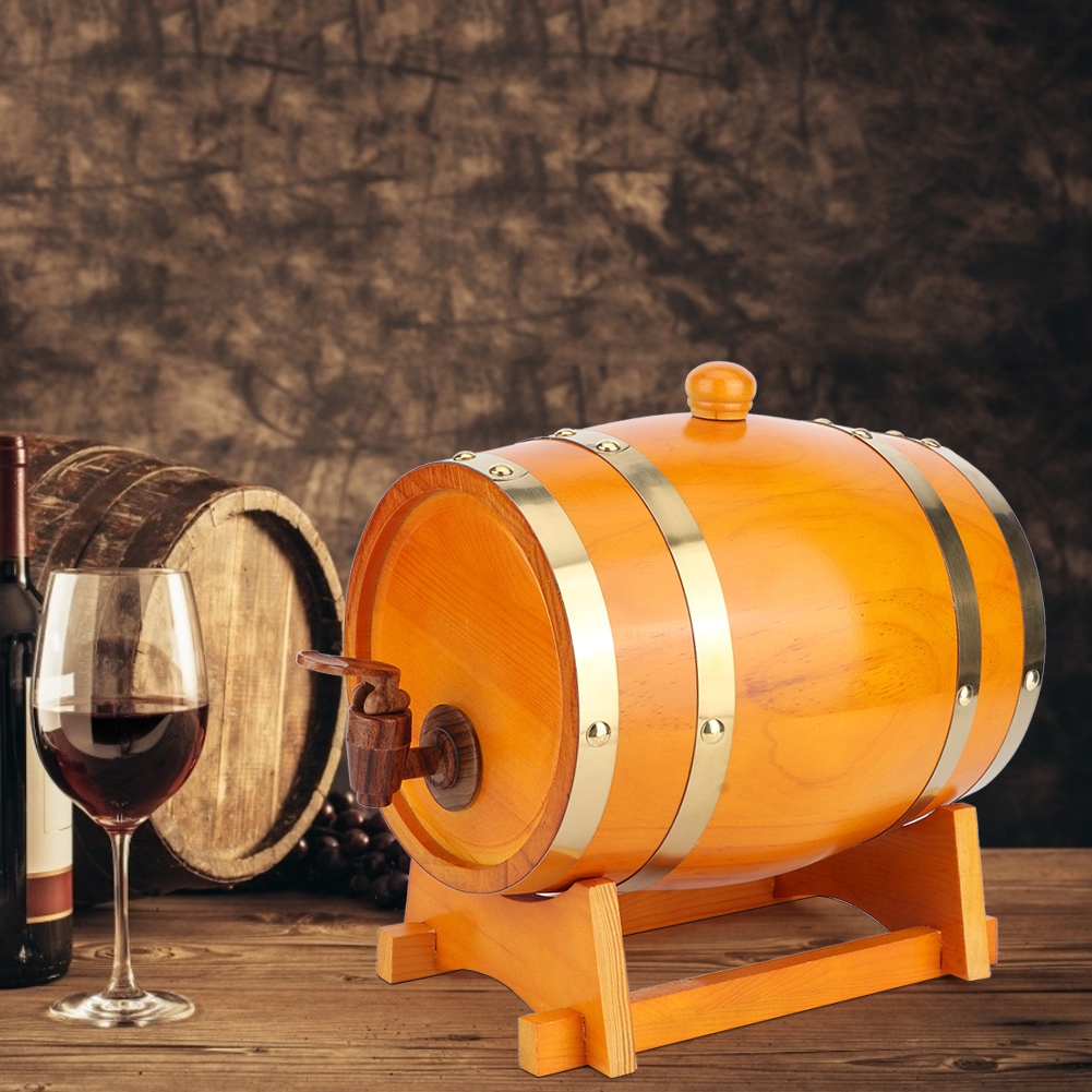 1-3L-Household-Mini-Wood-Whiskey-Barrel-Wine-Keg-Wooden-Wine-Brewing-Equipments thumbnail 31