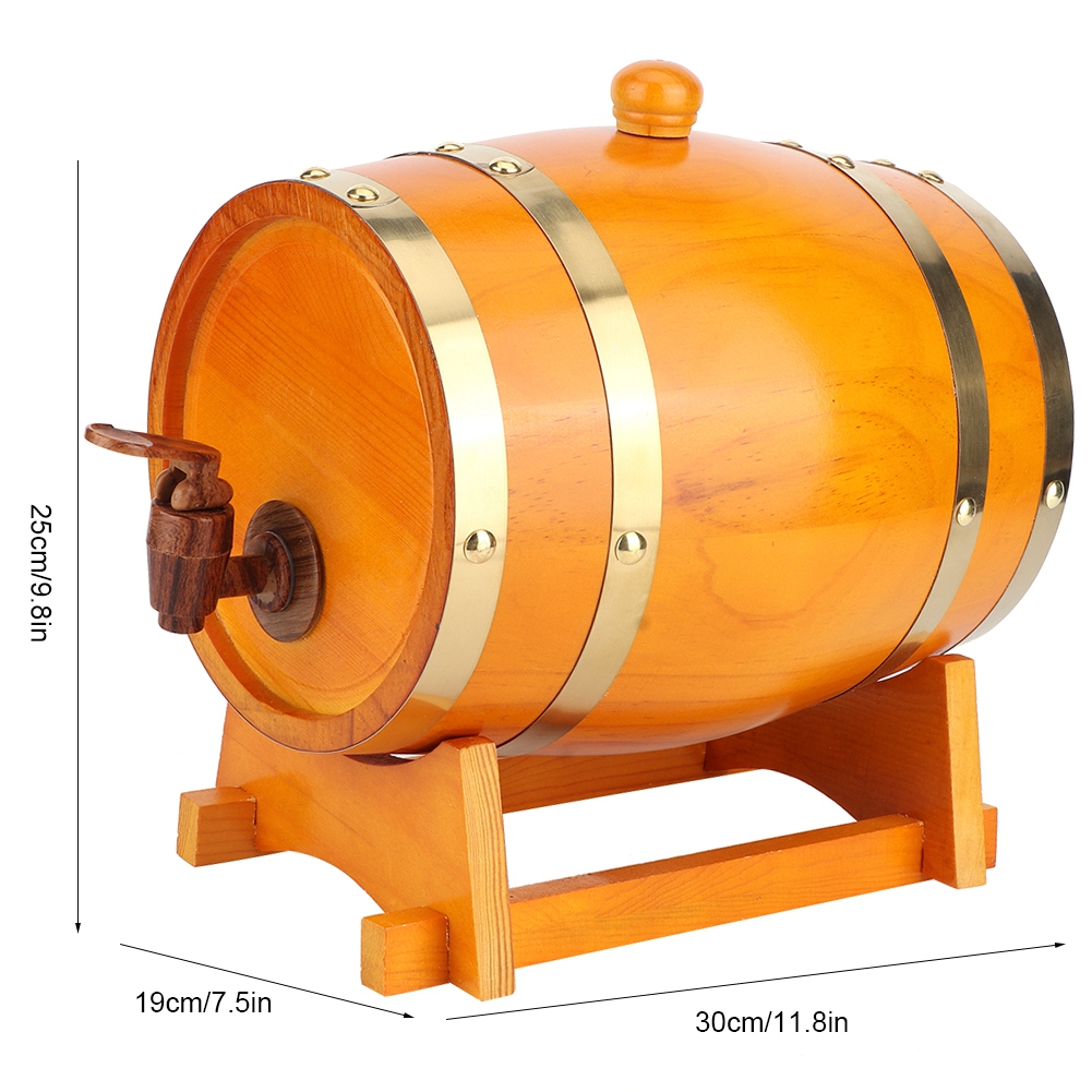1-3L-Household-Mini-Wood-Whiskey-Barrel-Wine-Keg-Wooden-Wine-Brewing-Equipments thumbnail 32