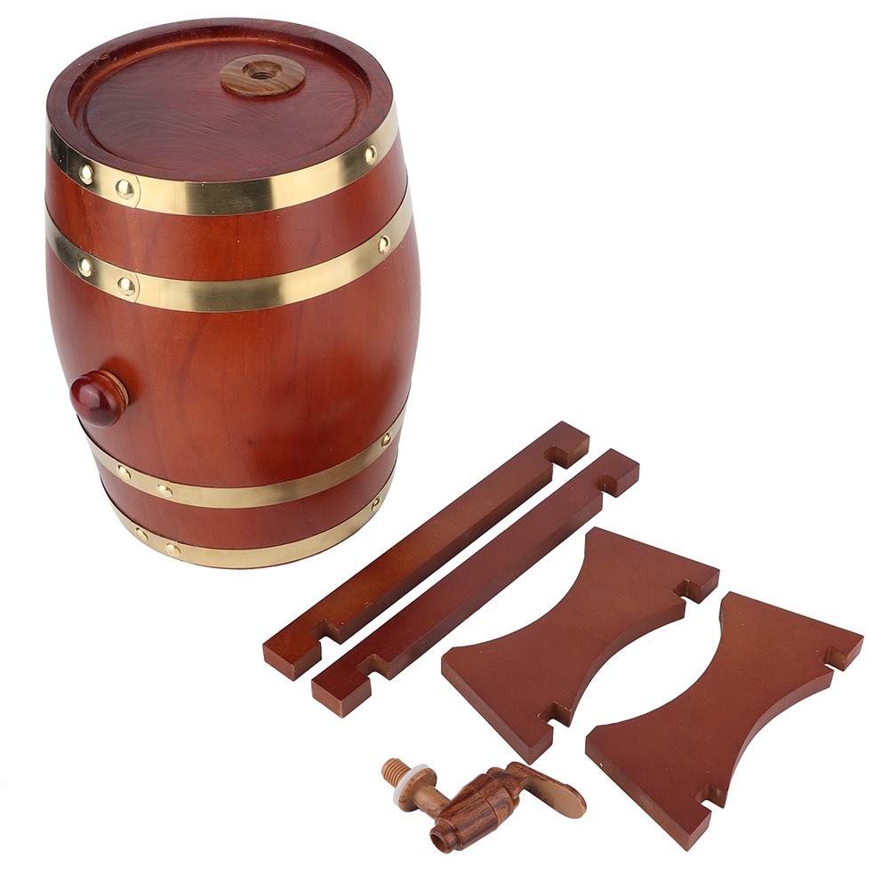 1-3L-Household-Mini-Wood-Whiskey-Barrel-Wine-Keg-Wooden-Wine-Brewing-Equipments thumbnail 26