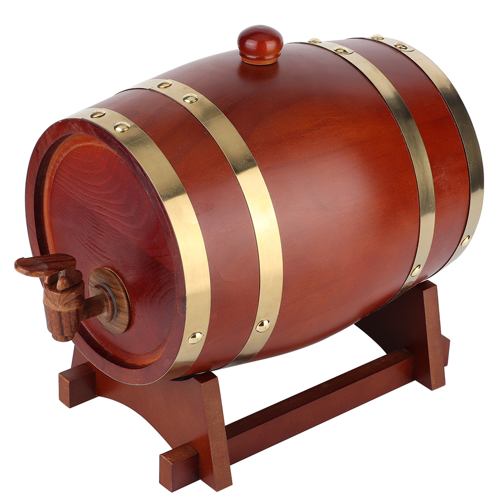 1-3L-Household-Mini-Wood-Whiskey-Barrel-Wine-Keg-Wooden-Wine-Brewing-Equipments thumbnail 27