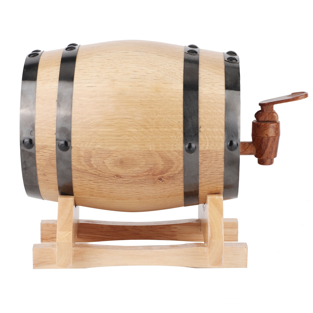 1-3L-Household-Mini-Wood-Whiskey-Barrel-Wine-Keg-Wooden-Wine-Brewing-Equipments thumbnail 14