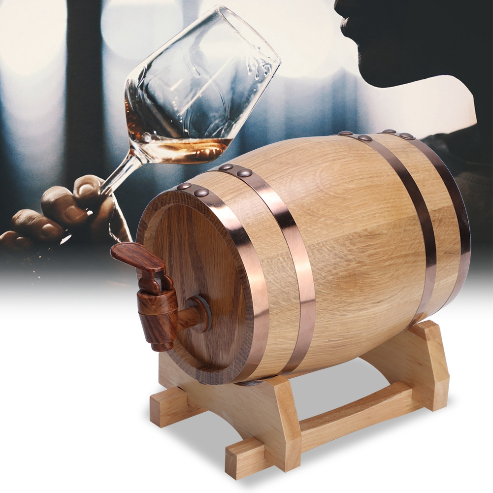 1-3L-Household-Mini-Wood-Whiskey-Barrel-Wine-Keg-Wooden-Wine-Brewing-Equipments thumbnail 18