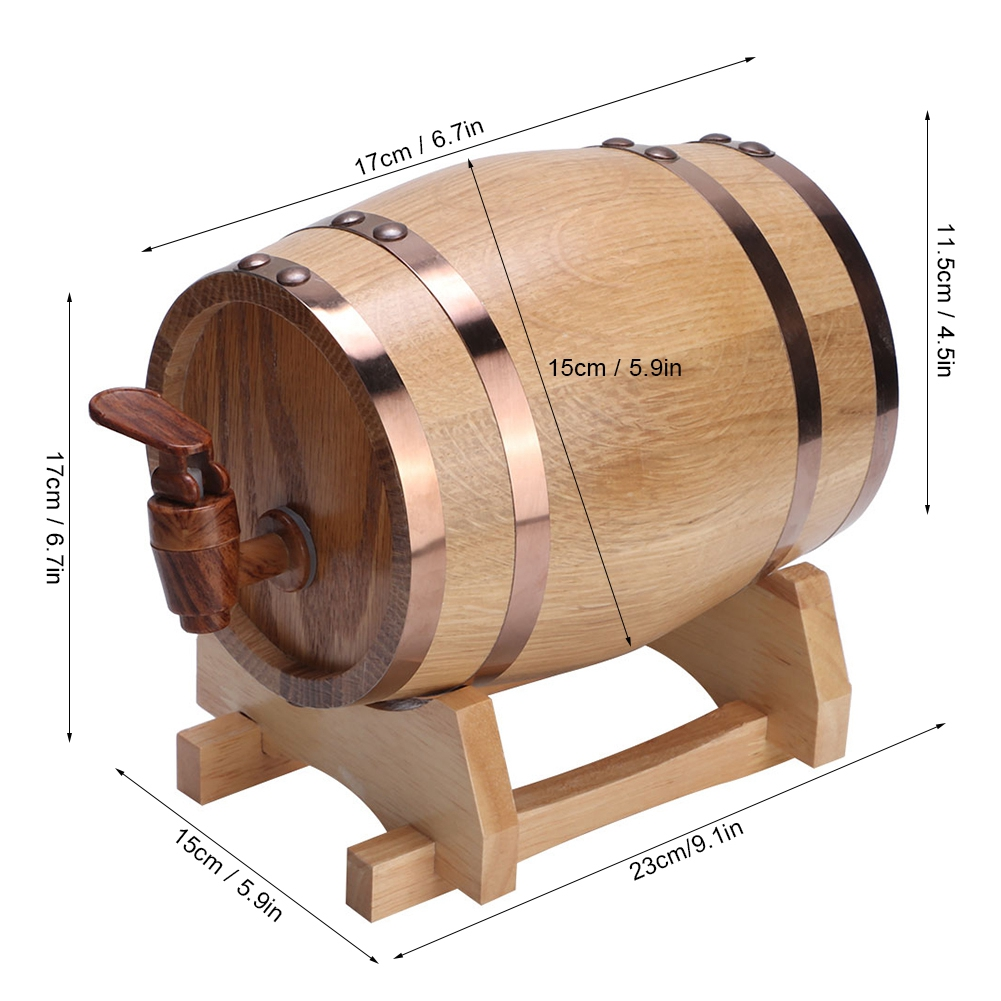 1-3L-Household-Mini-Wood-Whiskey-Barrel-Wine-Keg-Wooden-Wine-Brewing-Equipments thumbnail 20
