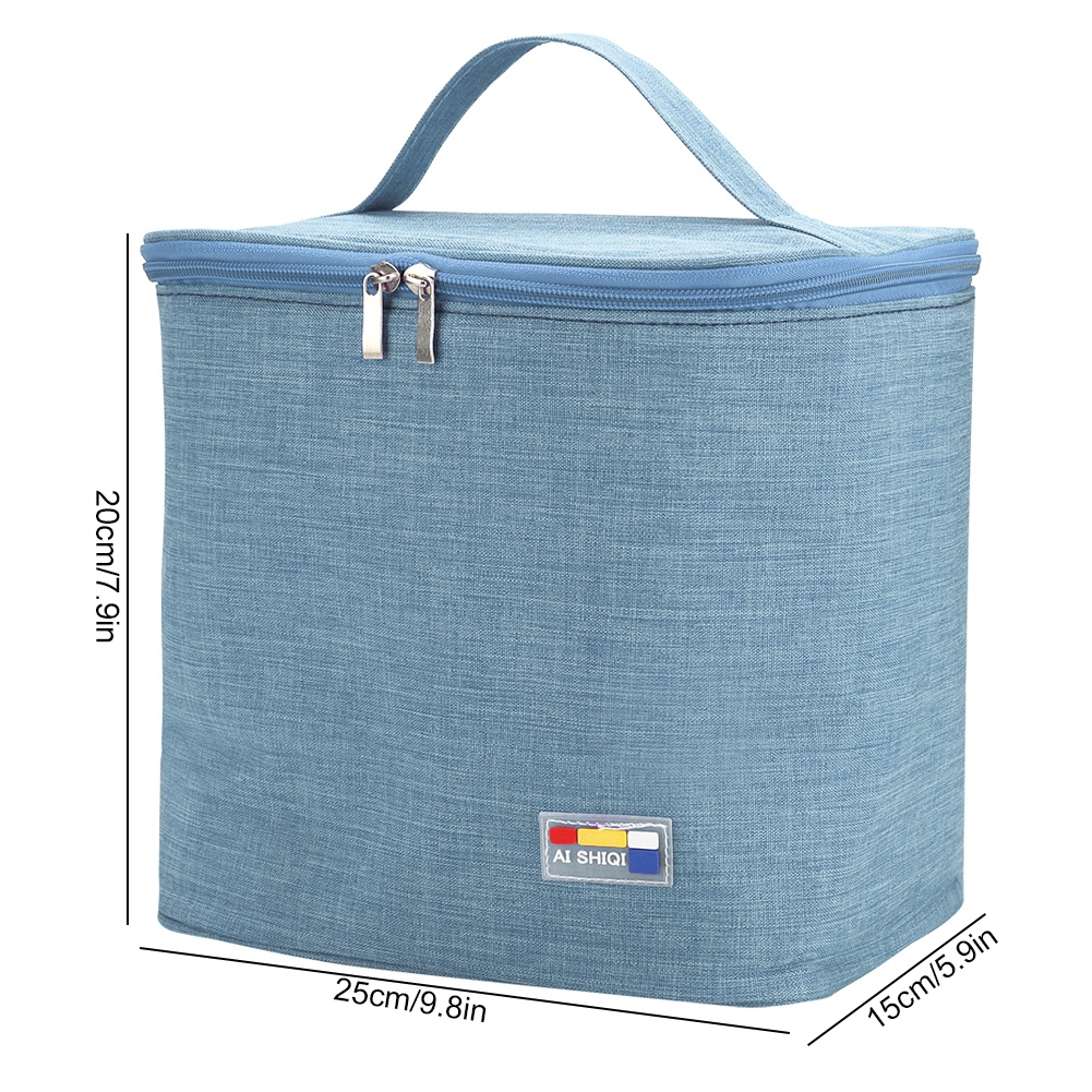 Portable-Lunch-Bag-Insulated-Thermal-Bags-Outdoor-Picnic-Travel-Food-Box-Bag thumbnail 37