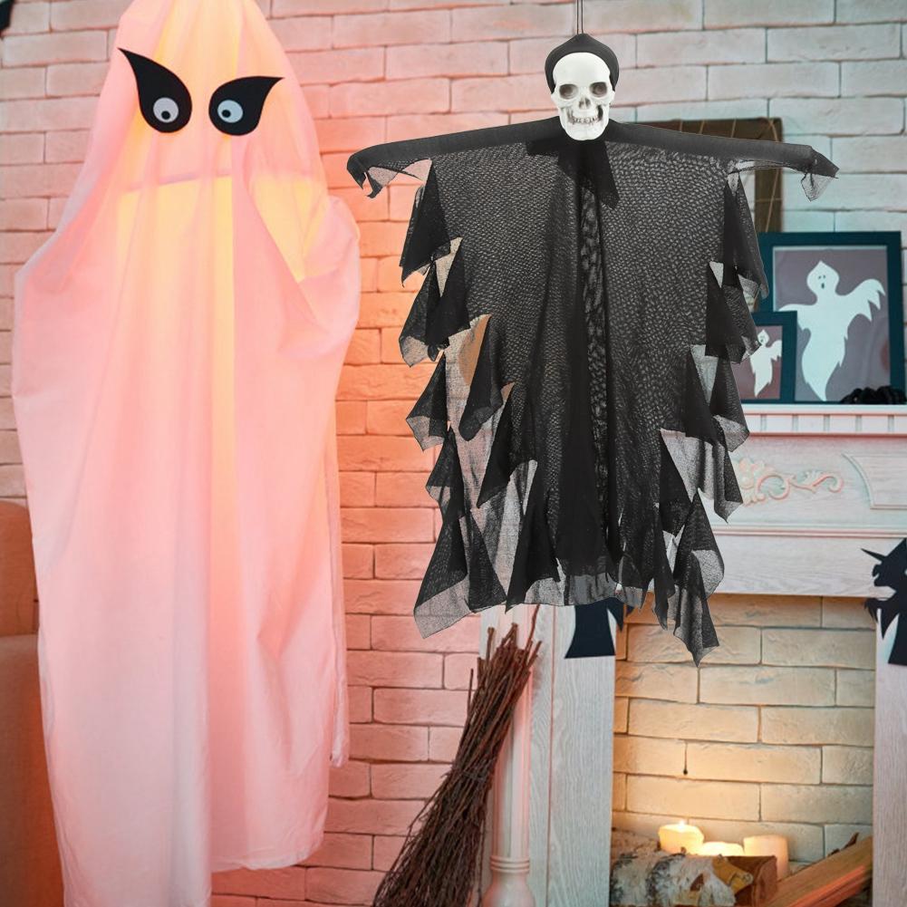 Lifelike-Halloween-Skeleton-Scary-Hanging-Skull-Decor-Ornament-Decoration-Props thumbnail 14