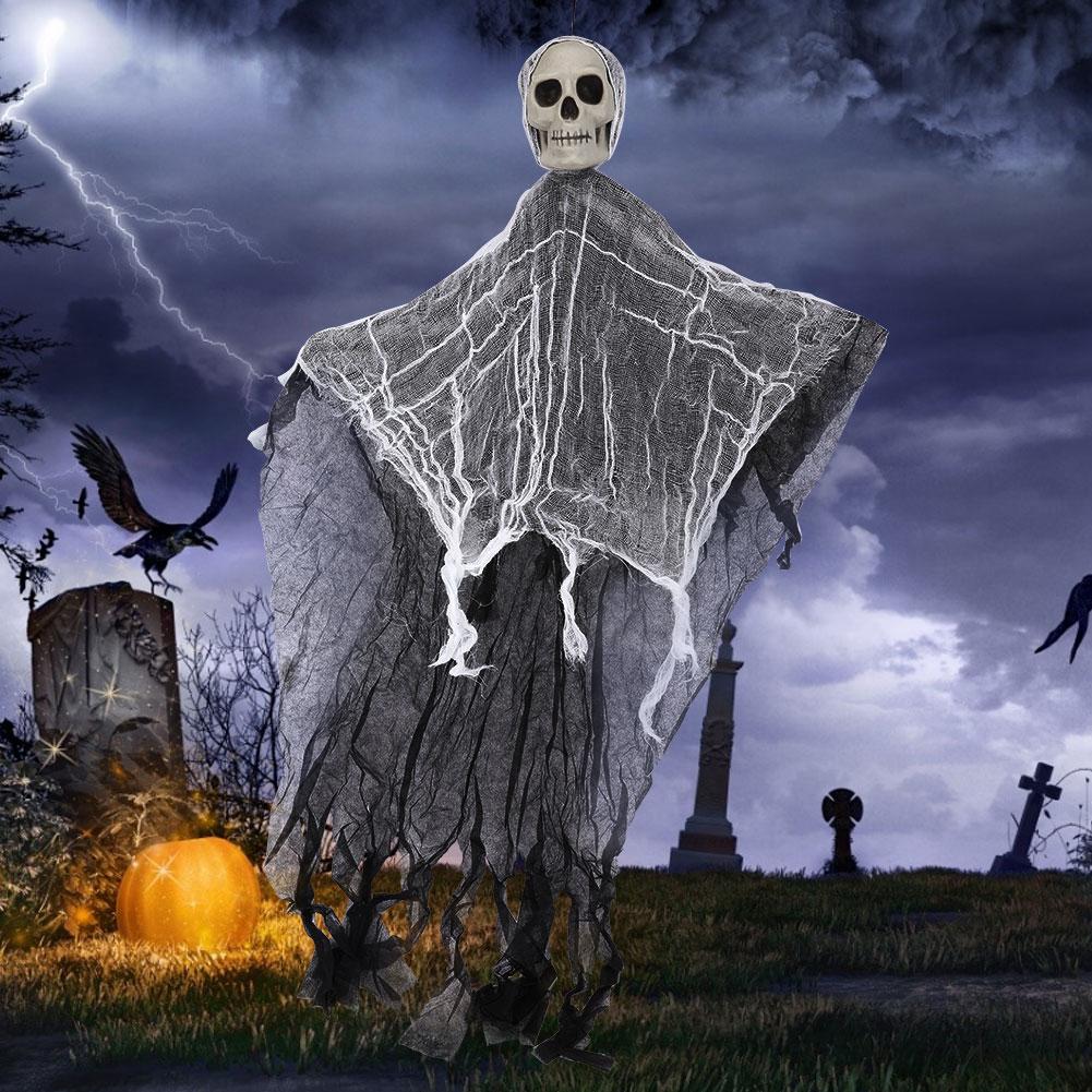 Lifelike-Halloween-Skeleton-Scary-Hanging-Skull-Decor-Ornament-Decoration-Props thumbnail 20