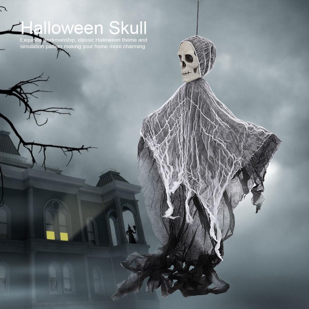 Lifelike-Halloween-Skeleton-Scary-Hanging-Skull-Decor-Ornament-Decoration-Props thumbnail 21