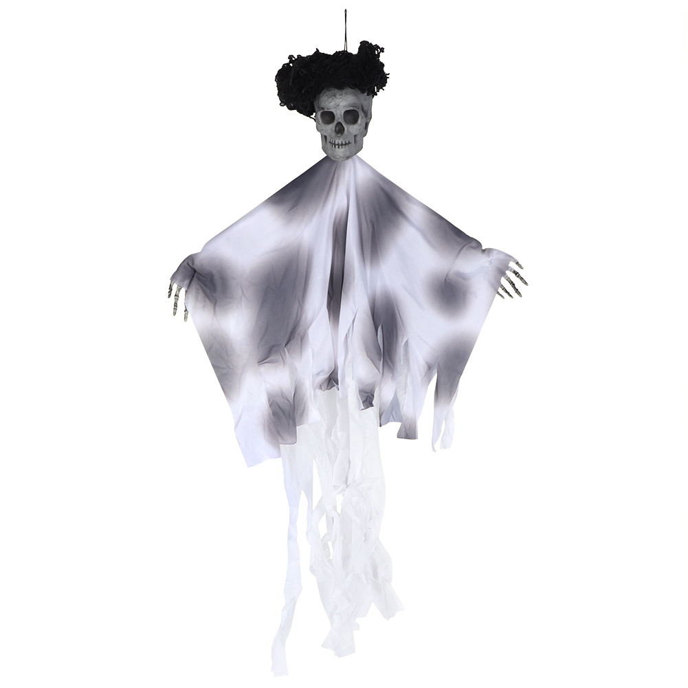 Lifelike-Halloween-Skeleton-Scary-Hanging-Skull-Decor-Ornament-Decoration-Props thumbnail 24