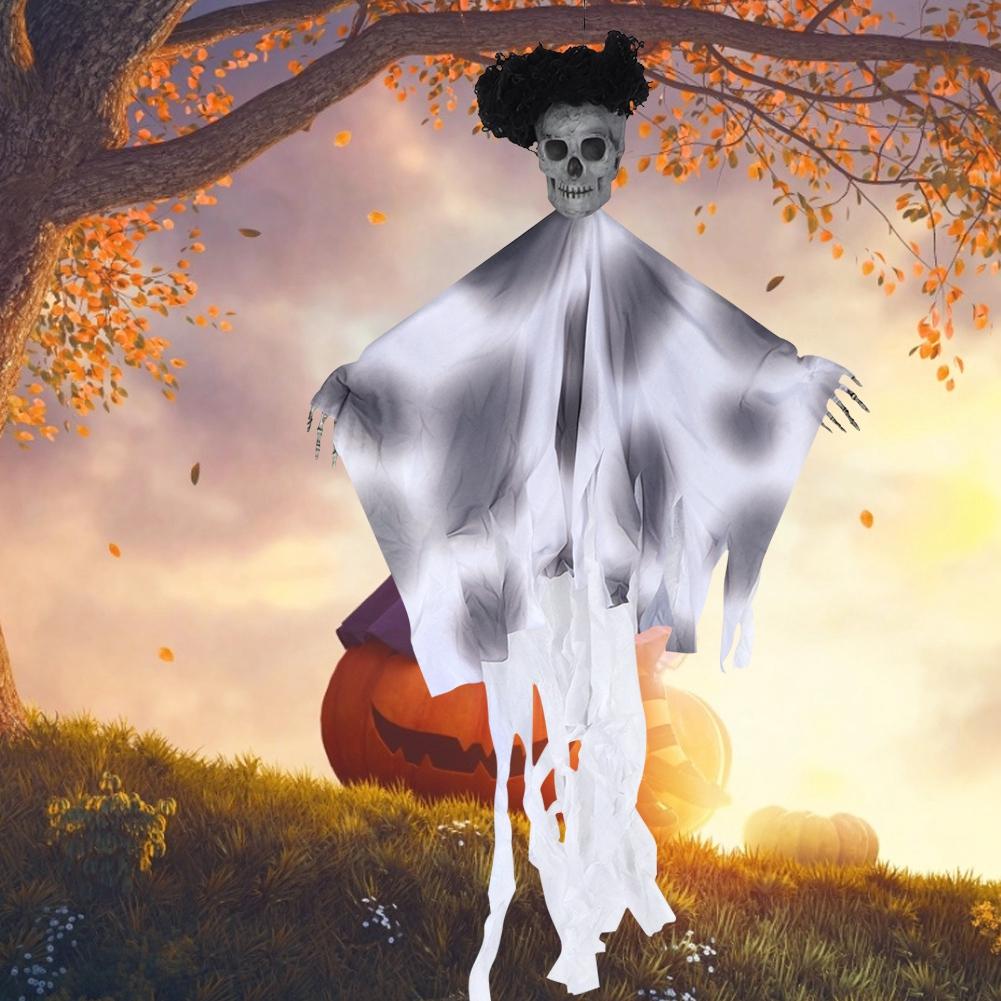 Lifelike-Halloween-Skeleton-Scary-Hanging-Skull-Decor-Ornament-Decoration-Props thumbnail 23