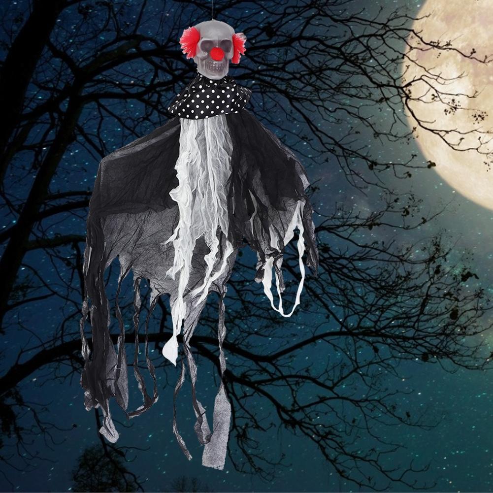 Lifelike-Halloween-Skeleton-Scary-Hanging-Skull-Decor-Ornament-Decoration-Props thumbnail 26