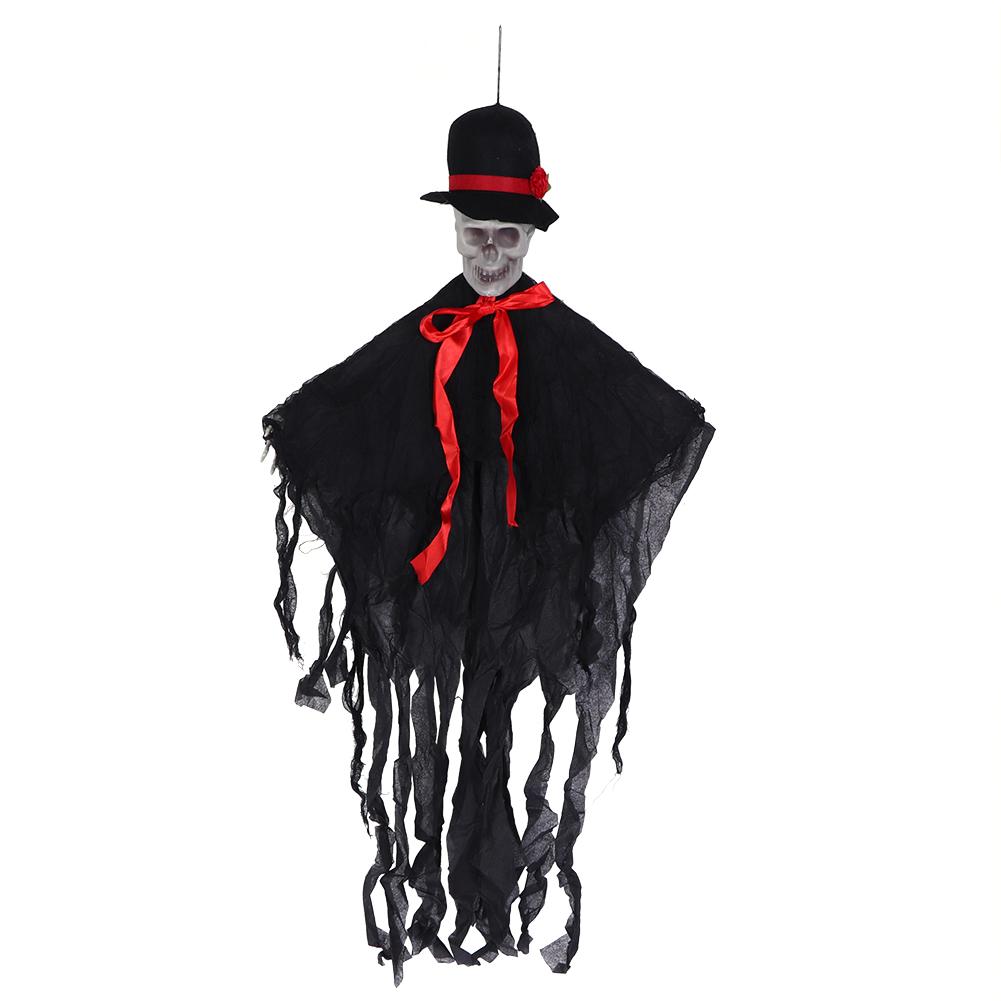 Lifelike-Halloween-Skeleton-Scary-Hanging-Skull-Decor-Ornament-Decoration-Props thumbnail 30