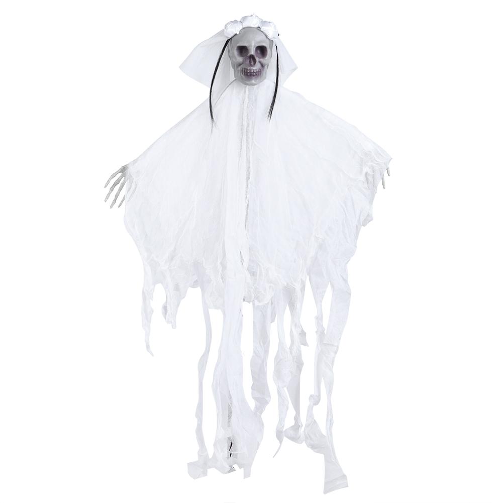 Lifelike-Halloween-Skeleton-Scary-Hanging-Skull-Decor-Ornament-Decoration-Props thumbnail 39