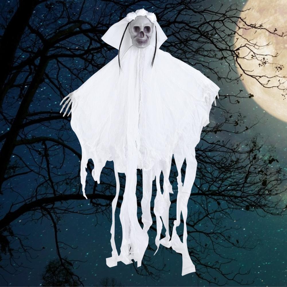 Lifelike-Halloween-Skeleton-Scary-Hanging-Skull-Decor-Ornament-Decoration-Props thumbnail 38
