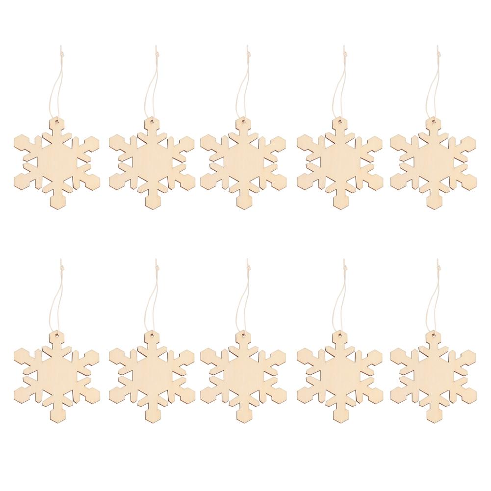 Christmas-Decorations-Tree-Ornament-Xmas-Hanging-Accessories-Wooden-DIY-Pendant thumbnail 112