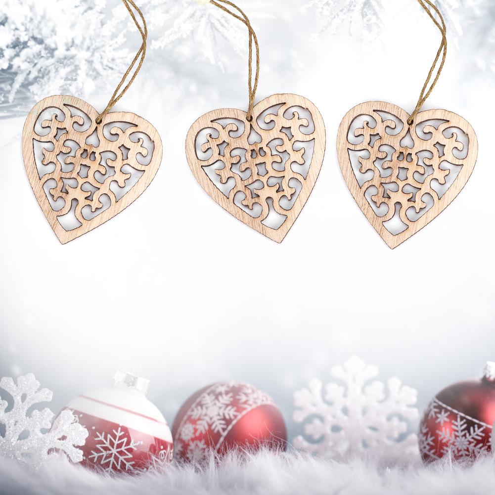 Christmas-Decorations-Tree-Ornament-Xmas-Hanging-Accessories-Wooden-DIY-Pendant thumbnail 130