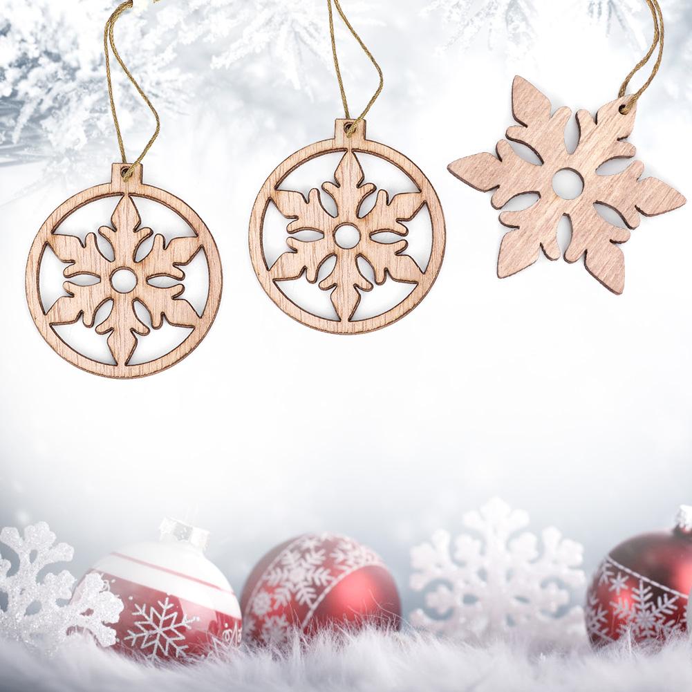 Christmas-Decorations-Tree-Ornament-Xmas-Hanging-Accessories-Wooden-DIY-Pendant thumbnail 133
